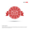 envalope icon - red ribbon banner vector image