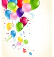 festive balloons background vector image vector image