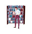 flat bookshop vector image