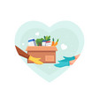 food and groceries donation vector image