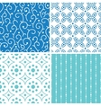 four abstract doodle motives seamless patterns set vector image vector image