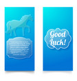 good luck wishing blue vertical banners vector image vector image