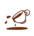 Hand Drawn Spilt Coffee vector image vector image