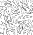 Hand Drawn Weapons Seamless Pattern vector image vector image