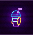 hand drink neon sign vector image