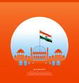 happy republic day india-26 january vector image