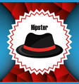 hat style hipster accessory vector image