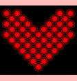 heart from suns tile geometric red patterns vector image