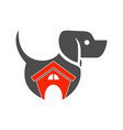 house dog logo icon concept design vector image vector image