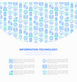 information technology concept vector image vector image
