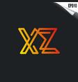 initial xz logo monogram design template simple vector image vector image