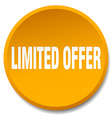 limited offer orange round flat isolated push vector image vector image
