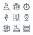 management line icons linear set quality line set