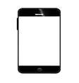 Mobile smart phone black 380 vector image