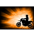 motorcyclist background 3 vector image vector image