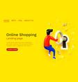open lock landing page website app service vector image