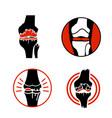 osteoarthritis icons set vector image vector image