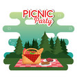 picnic party celebration scene vector image vector image