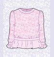 pink blouse with roses vector image