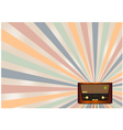 retro radio background vector image vector image