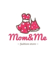 retro style two dresses for mother and vector image vector image