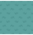 Seamless blue leaf retro pattern vector image vector image