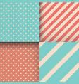 seamless blue polka dot background pattern vector image vector image