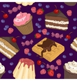 seamless pattern of sweets vector image