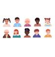 set of children portrait avatars on white vector image