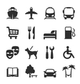 Set of icons for locations and services vector image vector image