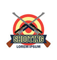 shooting logo with text space for your slogan vector image vector image