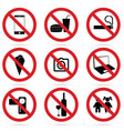 sign of set icon in red color vector image vector image