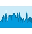 Silhouette city flat vector image