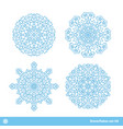 snowflake symbols christmas snow icons set vector image