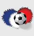 Soccer ball isolated on gray background vector image