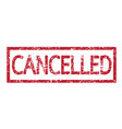 stamp cancelled text vector image vector image