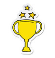 sticker of a cartoon sports trophy