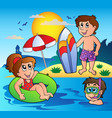 summer theme image 1 vector image