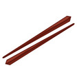 traditional sticks for food vector image