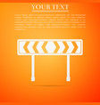 traffic sign road road block safety barricade vector image