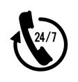 Twenty four hours service icon vector image