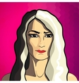 Woman fashion portrait vector image