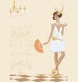woman in style twenties vector image
