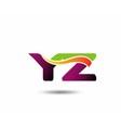 YZ Logo vector image vector image