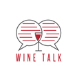 design template of wine talk concept vector image