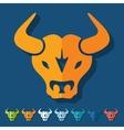 Flat design bull vector image