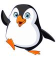penguin waving vector image