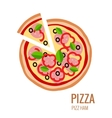 Pizza piece icon background vector image