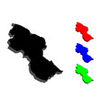 3d map of guyana vector image vector image