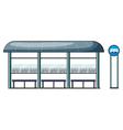 a bus stop vector image